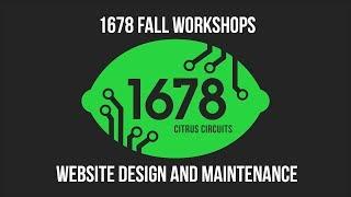 Fall Workshops 2018 - Website Design and Maintenance