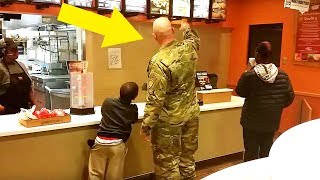 This Soldier Goes To Order Taco Bell Meal, Stops Cold When He Hears 2 Boys Behind Him