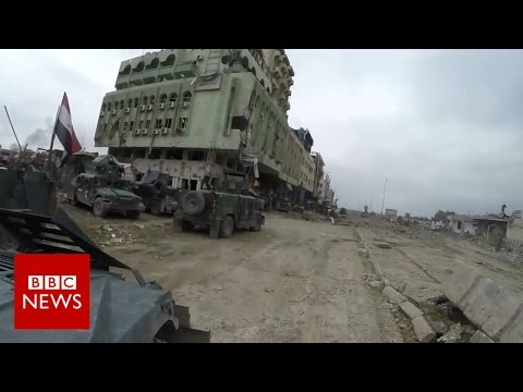 Mosul offensive: On the road to the 'caliphate' mosque - BBC News