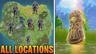 ALL THANOS SPAWN LOCATIONS IN FORTNITE BATTLE ROYALE! FORTNITE THANOS GAUNTLET SPAWN LOCATIONS!
