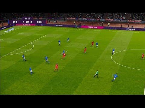 [HD] Italy vs Armenia | Match Qualification EURO 2020 | 18 Novembre 2019 | PES 2020