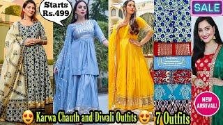Karwa Chauth & Diwali Outfits Starts@599/-