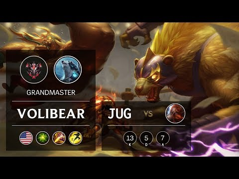Volibear Jungle vs Gragas - NA Grandmaster Patch 9.20