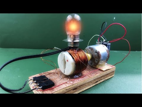 How to make diy electricity free energy generator in dc motor magnet – Science experiment project