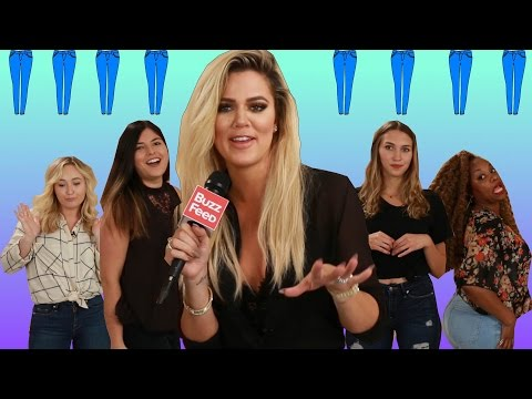 People Try Khloé Kardashian's Jeans