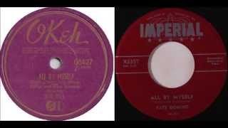 Big Bill Broonzy -All By Myself vs Fats Domino - All By Myself