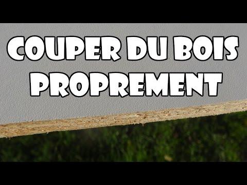 couper une planche de bois proprement nette sans éclats