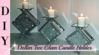 DIY Dollar Tree Glam Candle Holder - DIY Home Decor - Room Decor - Dollar Tree - Bling DIY - Elegant