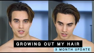 Growing Out My Hair From An Undercut (3 Month Update) + Mens Hair Tips