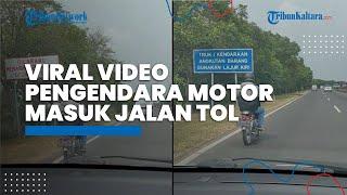 Viral Video Diduga Pemudik Gunakan Motor Masuk Tol Romokalisari Surabaya, Polisi: Mungkin Pakai GPS