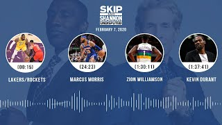 Lakers/Rockets, Marcus Morris, Zion Williamson, Kevin Durant (2.7.20)   UNDISPUTED Audio Podcast