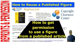 How to obtain permission to reuse figures from published articles !!