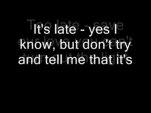 Queen - It's Late (Lyrics)