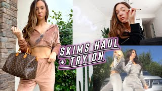 skims velour collection haul + try on!!        *im obsessed wow by Alisha Marie Vlogs