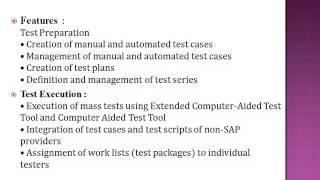 SAP TESTING  ONLINE TUTORIAL