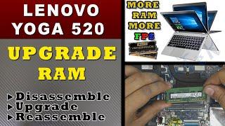 ✔ LENOVO YOGA 520 laptop RAM upgrade / Removal Guide