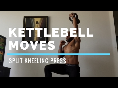 Kettlebell Split Single Arm Press