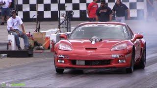 7-Second Procharged LSX Corvette Obliterates the Strip