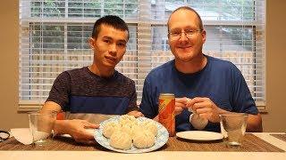 Lần Đầu Ăn Bánh Bao Nấm Thịt Gà| Long Tran USA