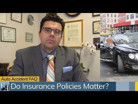 Car Accident FAQ: Do Insurance Policy Limits Matter?  A NYC Injury Lawyer Answers.