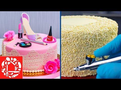Идеи украшения тортов для девушки