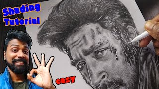Drawing Hrithik Roshan Step by Step | Easy Shading Tutorial | War Movie