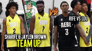 Sharife Cooper & Jaylen Brown TEAM UP To Face Lou Williams at AEBL Pro-AM! Sharife VS NBA PROS