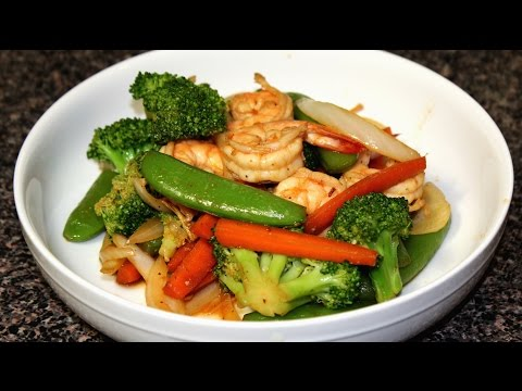 Video Shrimp & Vegetable Stir Fry Recipe