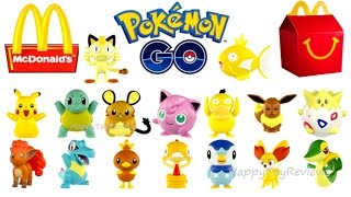 Download Youtube: 2016 McDONALD'S POKEMON GO HAPPY MEAL TOYS COMPLETE SET 16 GENERATION 6 COLLECTION UNBOXING EUROPE