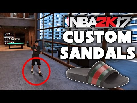 HOW TO MAKE SANDALS IN 2K17! GUCCI FLIP FLOPS CUSTOM SHOES!