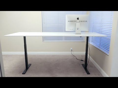 DIY Motorized Standing Desk - with Ikea Top