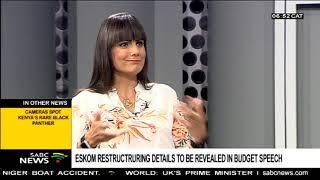 Eskom Restructuring Details To Be Revealed In Budget Speech