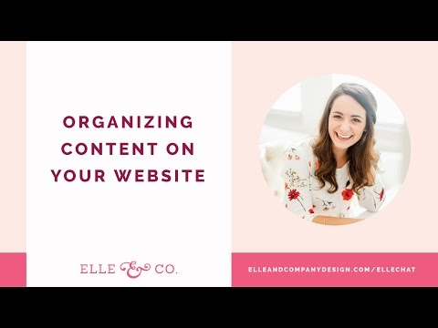 Organizing Content On Your Website