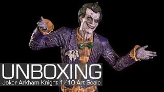 Unboxing - Batman: Arkham Knight The Joker 1/10 Art Scale Iron Studios
