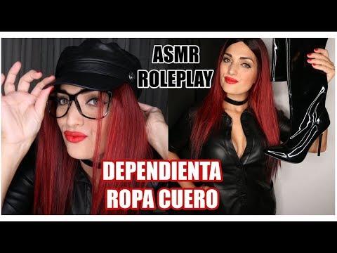 ASMR ROLEPLAY | DEPENDIENTA TIENDA / ROPA DE CUERO Y DISFRACES | MUNDO F3TICHE 2