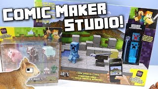 Minecraft Toys Comic Maker Studio Play Set and App Review Mattel