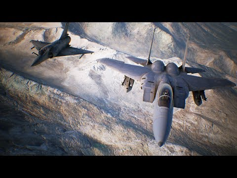 BUNKER BUSTER SLAMS UNDERGROUND BASE | Ace Combat 7 Skies Unknown | PS4 | Mission #13 F-15 Gameplay