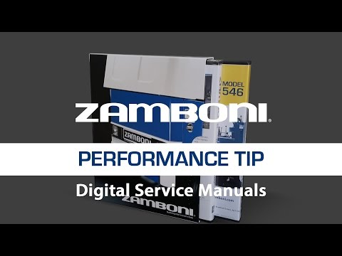 Zamboni Digital Service Manuals