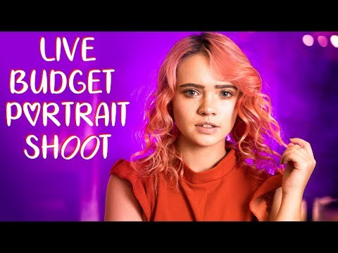 Live Budget Portrait Shoot VLOG with $5 accessories!
