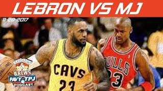 Tougher Opponents, MJ or Lebron? | #HoopsNBrews