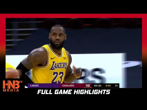 LA Lakers vs Cleveland Cavaliers 1.25.21   Full Highlights