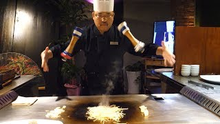Amazing skill of teppanyaki master - korean street food