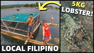 BecomingFilipino – FILIPINO FISHING COMMUNITY – Island Home In The Philippines – GIANT LOBSTER IN DAVAO