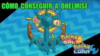 Dhelmise  - (Pokémon) - Cómo conseguir a  DHELMISE (pesca) - Guía pokémon Sol y Luna