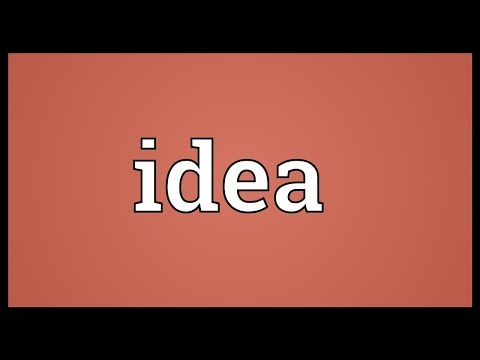 Idea Meaning Mp3