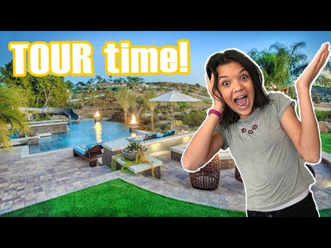 BACKYARD TOUR! Who will swim in the POOL First?!