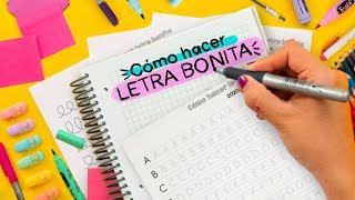 CÓMO TENER LETRA BONITA RÁPIDO - Haz Apuntes Bonitos ✄ Craftingeek