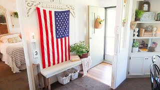 American Farmhouse Style Mobile Home Tour * Its ADORABLE*
