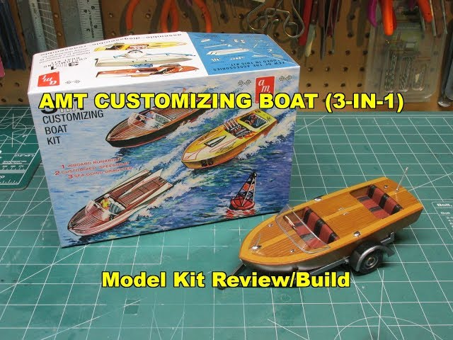 AMT CUSTOMIZING BOAT 3N1 1:25 SCALE MODEL KIT REVIEW BUILD AMT1056