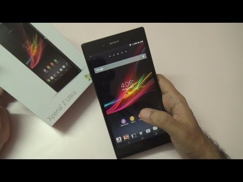 Sony Xperia Z Ultra 6.4 Inch Smartphone Unboxing & Overview